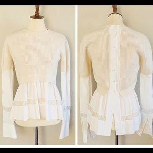 FABULOUS cream blouse and sweater combo size 38